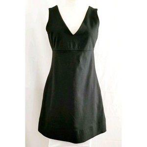 Express Women's Black Empire Waist V-Neck Dress XS